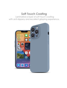 Ntech iPhone 13 hoesje - iPhone 13 hoesje Siliconen  Licht Blauw - iPhone 13 case - hoesje iPhone 13 - iPhone 13 Silicone case -  hoesje - Nano Liquid Silicone Backcover