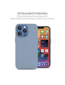 Ntech iPhone 13 Mini hoesje - iPhone 13 Mini hoesje Siliconen Licht Blauw - iPhone 13 Mini case - hoesje iPhone 13 Mini - iPhone 13 Mini Silicone case -  hoesje - Nano Liquid Silicone Backcover