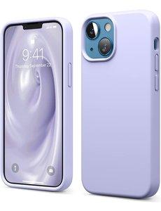 Ntech iPhone 13 Mini hoesje - iPhone 13 Mini hoesje Siliconen Lila - iPhone 13 Mini case - hoesje iPhone 13 Mini - iPhone 13 Mini Silicone case -  hoesje - Nano Liquid Silicone Backcover