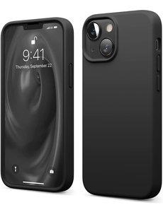 Ntech iPhone 13 Mini hoesje - iPhone 13 Mini hoesje Siliconen Zwart - iPhone 13 Mini case - hoesje iPhone 13 Mini - iPhone 13 Mini Silicone case -  hoesje - Nano Liquid Silicone Backcover