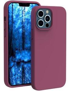 Ntech iPhone 13 Pro hoesje - iPhone 13 Pro hoesje Siliconen Wine Rood - iPhone 13 Pro case - hoesje iPhone 13 Pro - iPhone 13 Pro Silicone case -  hoesje - Nano Liquid Silicone Backcover