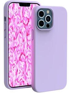 Ntech iPhone 13 Pro hoesje - iPhone 13 Pro hoesje Siliconen Lila - iPhone 13 Pro case - hoesje iPhone 13 Pro - iPhone 13 Pro Silicone case -  hoesje - Nano Liquid Silicone Backcover