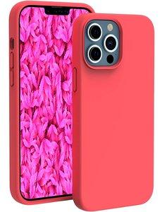 Ntech iPhone 13 Pro hoesje - iPhone 13 Pro hoesje Siliconen Rood - iPhone 13 Pro case - hoesje iPhone 13 Pro - iPhone 13 Pro Silicone case -  hoesje - Nano Liquid Silicone Backcover