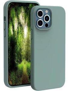 Ntech iPhone 13 Pro hoesje - iPhone 13 Pro hoesje Siliconen Pine Groen - iPhone 13 Pro case - hoesje iPhone 13 Pro - iPhone 13 Pro Silicone case -  hoesje - Nano Liquid Silicone Backcover