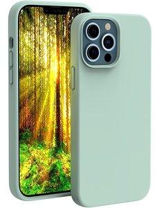 Ntech iPhone 13 Pro hoesje - iPhone 13 Pro hoesje Siliconen Mint Groen - iPhone 13 Pro case - hoesje iPhone 13 Pro - iPhone 13 Pro Silicone case -  hoesje - Nano Liquid Silicone Backcover
