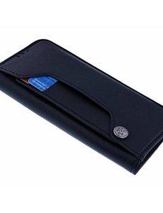 Ntech iPhone 13 Hoesje - Hoesje iPhone 13 booktype Flip Cover met Magneetsluiting en Uitschuifbare Kaartenhouder Zwart