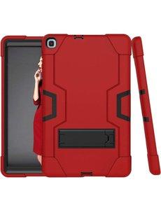 Merkloos Samsung Galaxy Tab A 10.1 Inch 2019 T510 / T515 Hybrid Shockproof Protection Case Armor met standaard (rood)