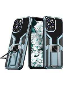 Ntech iPhone 13 hoesje - Schokbestendige Cyan -  hoesje iPhone 13 met ring houder - iPhone 13 hoesje magnetisch  Armor - iPhone 13 case Ultra Slim Soft TPU Cover met kicktand