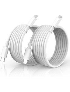 Ntech usb c naar lightning kabel - lightning naar usb c oplaadkabel - 1 meter geschikt voor Apple iPhone 13 / 13 Pro Max / iPhone 12 / 12 pro max  & iPad - oplader  kabel - lader - 2-PACK