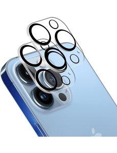 Ntech iPhone 13 Pro / 13 Pro Max camera lens protector - beschermglas iPhone 13 Pro / iPhone 13 Pro Max lens protector Zwart - 2 pack