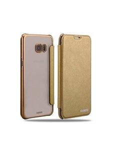 Xundd XUNDD Samsung Galaxy S6 Edge Plus Flip Case met transparent backcover Goud