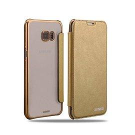 Xundd XUNDD Galaxy S6 Edge Plus Flip Case met transparent Back Cover Goud