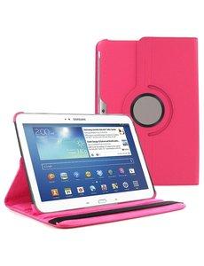 Merkloos Samsung Galaxy Tab 3 10.1 draaibare Case Hot Pink