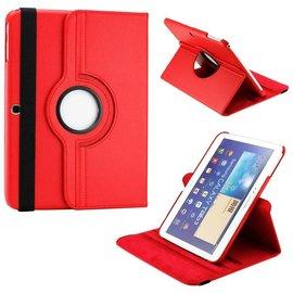 Merkloos Samsung Galaxy Tab 3 10.1 draaibare Case Rood