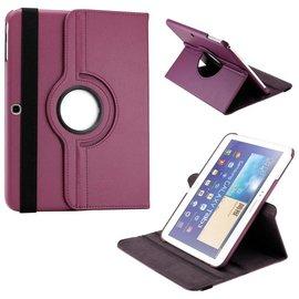 Merkloos Samsung Galaxy Tab 3 10.1 draaibare Case Paars