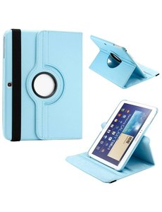 Merkloos Samsung Galaxy Tab 3 10.1 draaibare Case Blauw