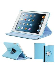 Merkloos iPad Mini / Mini 2 360 Graden Draaibare hoesje Case Blauw