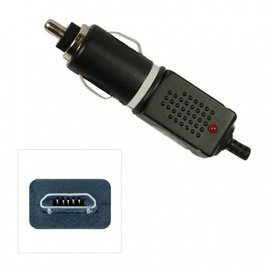 Merkloos Autolader Micro USB 12v/24v  Black