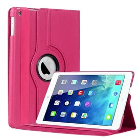 Merkloos iPad Air 360 Graden Draaibare Hoes Cover Stand Case Roze / Pink