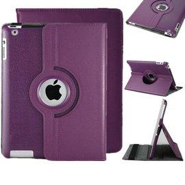 Merkloos iPad Air 360 Graden Hoes Cover Beschermhoes Paars