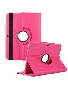 Merkloos Samsung Galaxy Tab 3 10.1 Tablet hoesje 360 Draaibaar - Roze / Pink