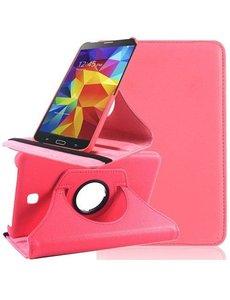 Merkloos Tablet hoesje 360 Graden Draaibare Case Samsung Galaxy Tab 4 7.0 inch Roze / Pink