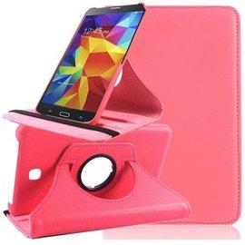 Merkloos Tablet hoesje Cover 360 Graden Draaibare Case met Multi-Stand Samsung Galaxy Tab 4 7.0 inch Roze / Pink
