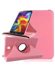 Merkloos Tablet hoesje 360 Draaibaar Case Samsung Galaxy Tab 4 7.0 inch Licht Roze