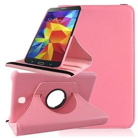 Merkloos Tablet hoesje cover 360 Graden Draaibaar Case met Multi-Stand Samsung Galaxy Tab 4 7.0 inch Licht Roze