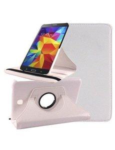 Merkloos Samsung Galaxy Tab 4 7.0 inch Tablet hoesje 360 Draaibaar Case - Wit