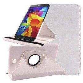 Merkloos Samsung Galaxy Tab 4 7.0 inch Tablet hoesje cover 360 graden draaibaar Case met Multi-stand kleur Wit