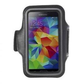 Merkloos Sport Armband Zwart voor de Samsung Galaxy S5