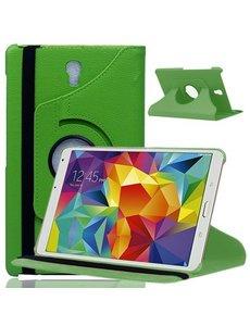 Merkloos Samsung Galaxy Tab S 8.4 inch T700 Tablet hoesje met 360° draaistand Case - Groen
