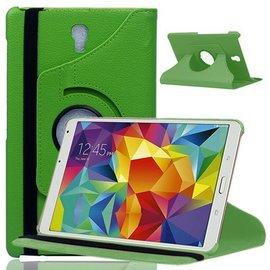 Merkloos Samsung Galaxy Tab S 8.4 inch T700 Tablet Hoes met 360° draaistand Case kleur Groen