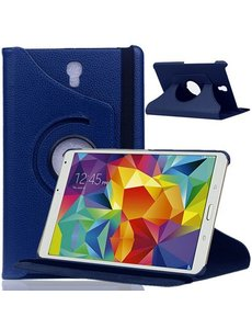 Merkloos Samsung Galaxy Tab S 8.4 inch T700 Tablet hoesje met 360° draaistand Case - Donker Blauw