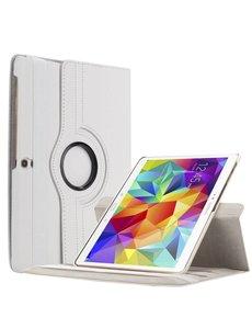 Merkloos Samsung Galaxy Tab S 10.5 inch T800 / T805 Tablet hoesje met 360° Draaibaar Wit
