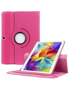 Merkloos Samsung Galaxy Tab S 10.5 inch T800 / T805 Tablet hoesje met 360° Draaibaar Roze Pink