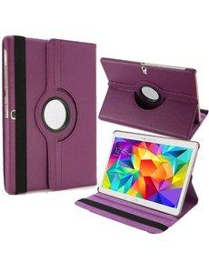 Merkloos Samsung Galaxy Tab S 10.5 inch T800 / T805 Tablet hoesje met 360° Draaibaar Paars