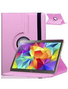Merkloos Samsung Galaxy Tab S 10.5 inch T800 / T805 Tablet hoesje met 360° Draaibaar Licht Roze