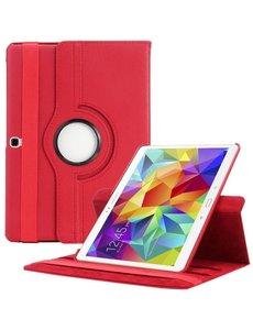 Merkloos Samsung Galaxy Tab S 10.5 inch T800 / T805 Tablet hoesje met 360° Draaibaar Rood
