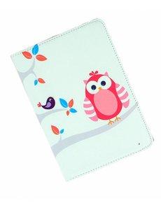 Merkloos iPad mini 1 / 2 / 3 draaibaar hoesje vogels in boom