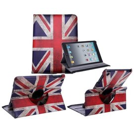 Merkloos Apple iPad Mini / Mini 2 / Mini 3 Case 360° draaibare hoesje Cover met Multi-stand UK Flag