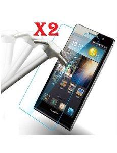 Merkloos 1 + 1 Gratis Huawei P6 glazen Screenprotector Tempered Glass (0.3mm) - Ntech