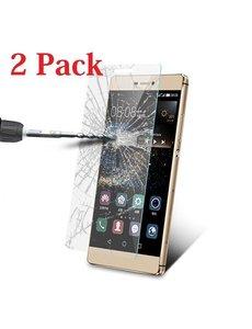 Merkloos 1 + 1 Gratis Huawei P8 Lite glazen Screenprotector Tempered Glass (0.3mm) - Ntech