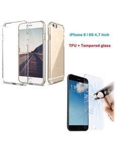 Nillikin Apple iPhone 6 / 6S (4.7 inch) Ultra Dun Gel silicone back hoesje + gratis Glazen Tempered glass / screenprotector - Ntech