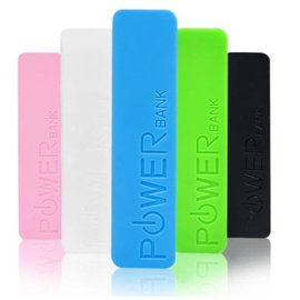 Power Bank Powerbank 2600 mAh - mobiele oplader - Roze