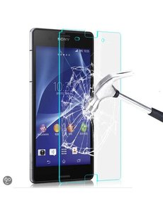 Merkloos Glazen Screenprotector Tempered Glass (0.3mm) voor Xperia Z3