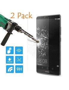 Merkloos Gratis 1 + 1 Huawei Mate 8 glazen Screenprotector Tempered Glass (0.3mm)