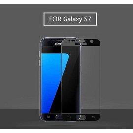 Merkloos - Samsung Galaxy S7 explosion proof glazen tempered glass screen protector - Zwart