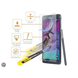 Merkloos Samsung Galaxy Note 4  Glazen Screen protector Tempered Glass 2.5D 9H (0.3mm)